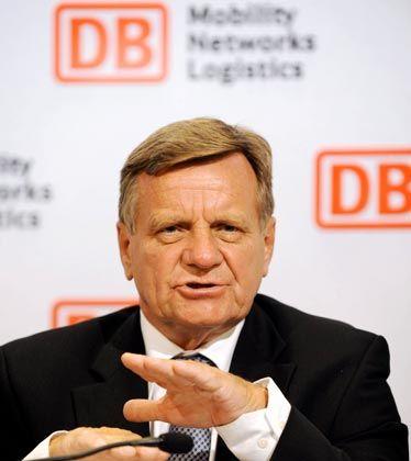 In Erklärungsnot: Bahn-Chef Hartmut Mehdorn