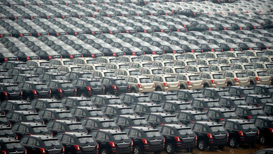Neuwagen der Marke Lifan: Die Marktanteile der chinesischen Hersteller fallen im eigenen Land