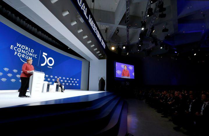 Angela Merkel in Davos: Gegenkonzept zu Donald Trump