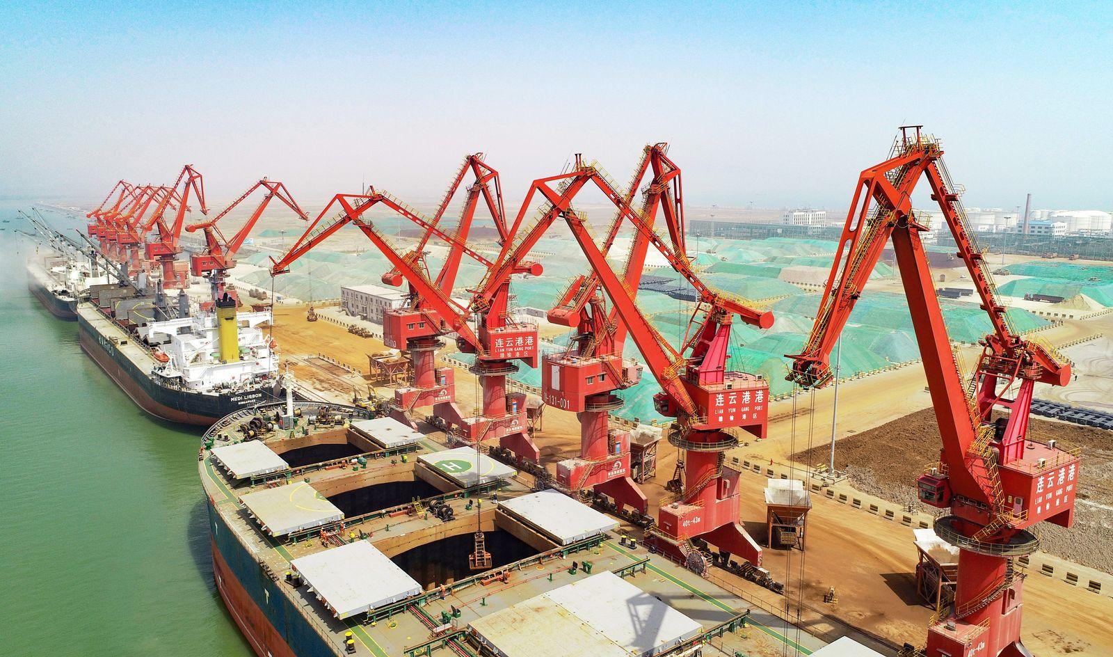 China Konjunktur / Handel / Export / USA / Hafen Container