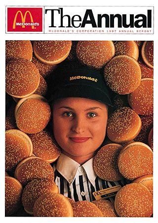 Nicht mehr weich gepolstert: Cover des McDonald's Geschäftsberichts