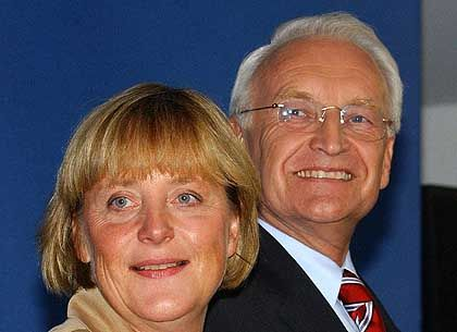 """Angela Merkel, Edmund Stoiber: """"Die Union hat die Wahl gewonnen"""""""