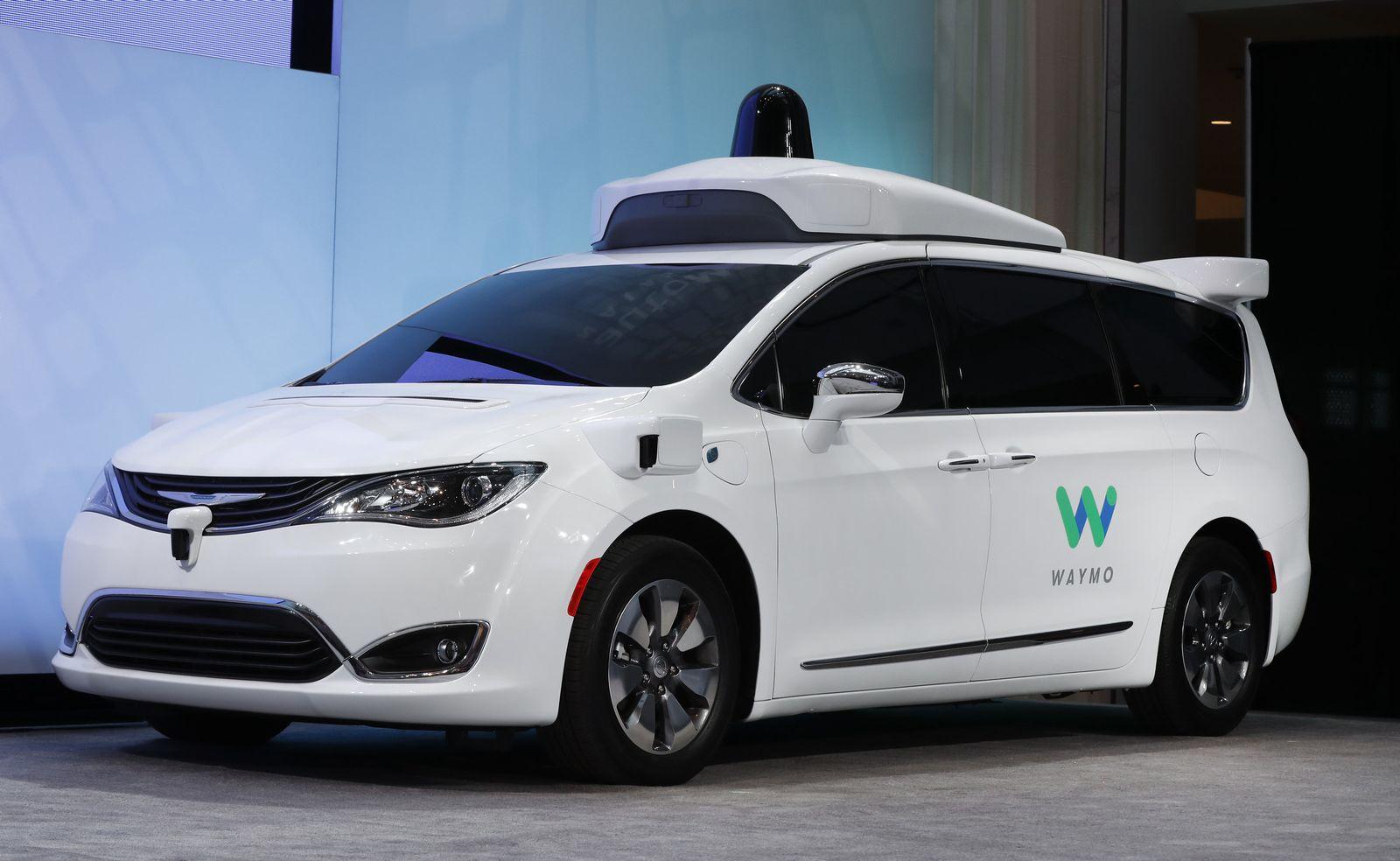 Waymo Chrysler Minivans