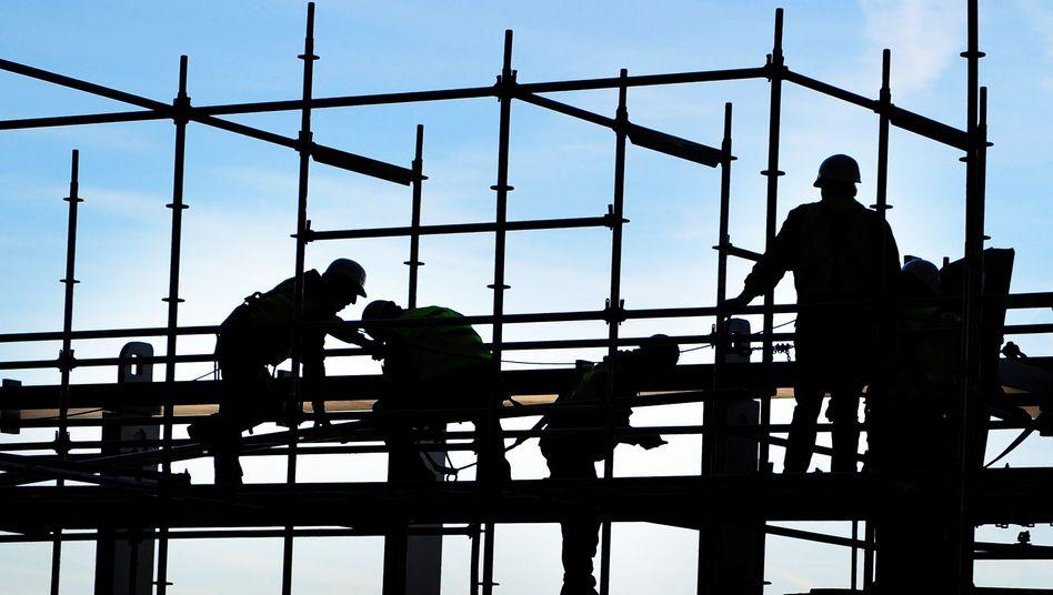 Bauarbeiter in Frankfurt am Main