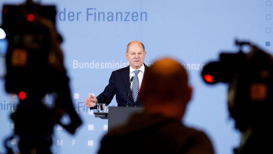 """Olaf Scholz: """"Notwendigkeit, die Bankenunion zu vertiefen und zu vervollständigen"""". Das sei """"kein kleiner Schritt für einen deutschen Finanzminister"""""""