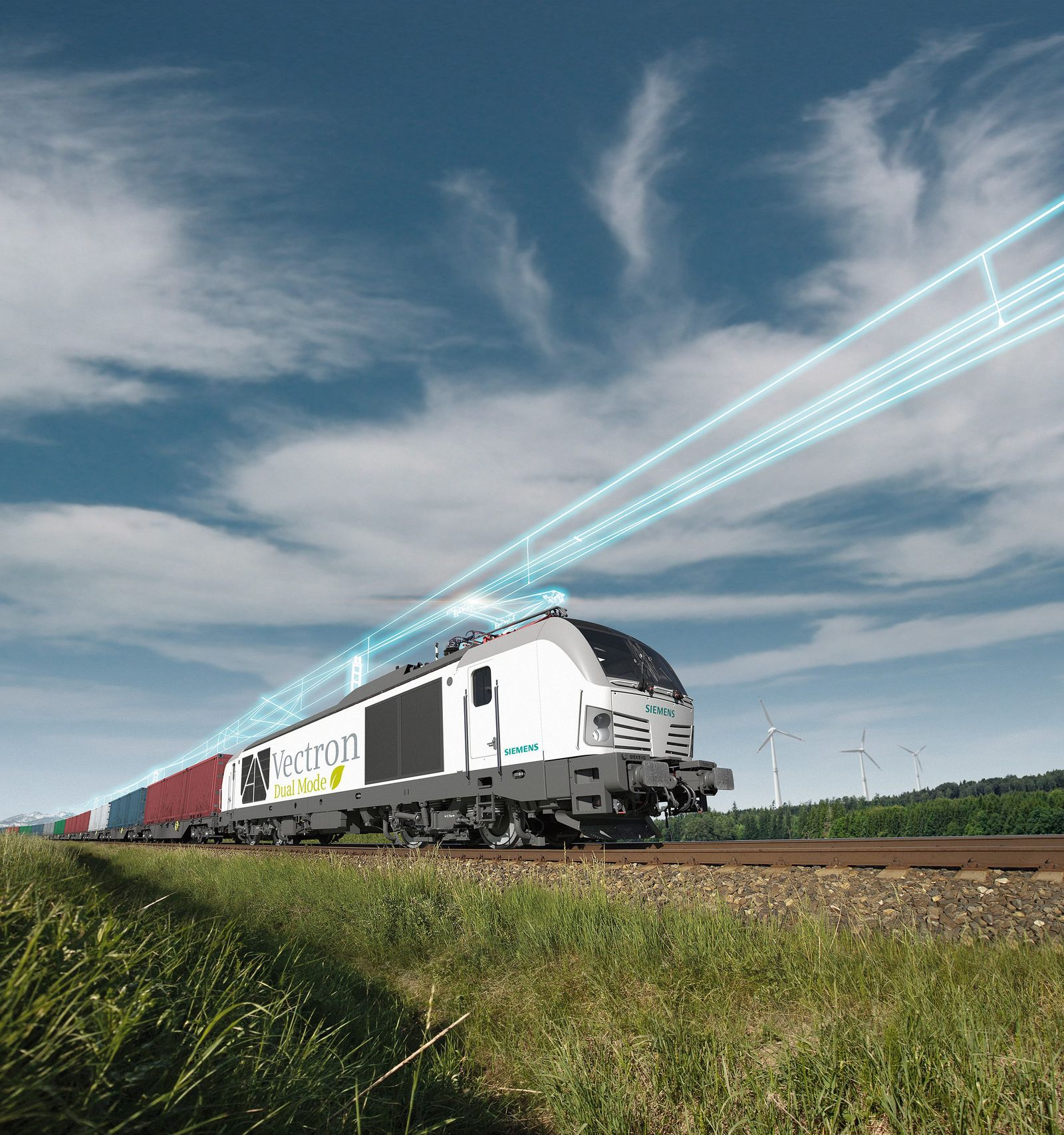Siemens Mobility präsentiert neue Lokomotive Vectron Dual Mode / Siemens Mobility presents new Vectron Dual Mode locomotive