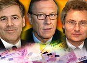 Die bestbezahlten Dax-Manager: Ackermann (Deutsche Bank), Schrempp (DaimlerChrysler), Kagermann (SAP)