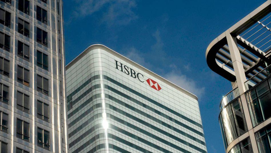 HSBC in London: Die Bank will ihre Büroflächen deutlich reduzieren, allerdings nicht im Hauptquartier im Londoner Stadtteil Canary Wharf