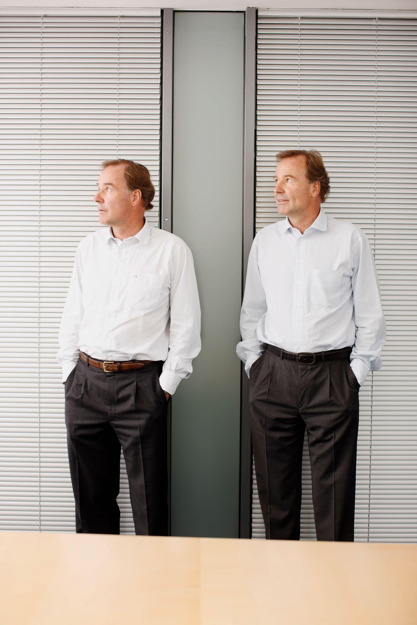 EINMALIGE VERWENDUNG Andreas (links) und Thomas Strüngmann,