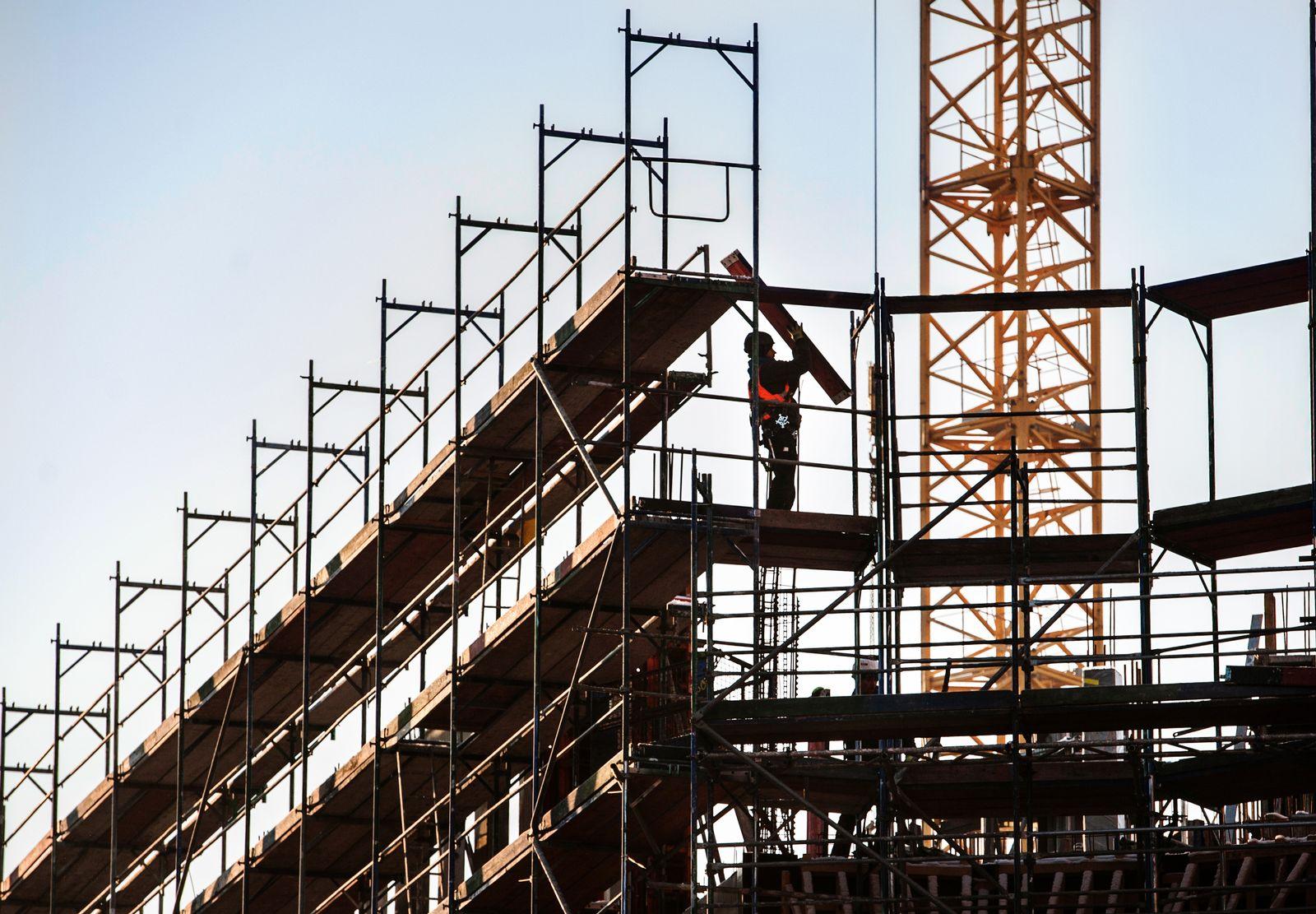 Bauarbeiter / Wirtschaft / Konjunktur / Eurozone / Deutschland