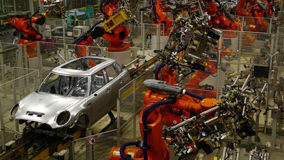 Irgendwie hohl: Mini-Produktion des BMW-Konzerns in Oxford, westlich von London.