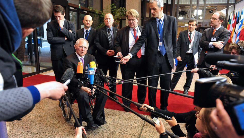 """Bundesfinanzminister Schäuble: """"Ich bin froh, dass wir jetzt das erreicht haben, was immer unsere Position war"""""""