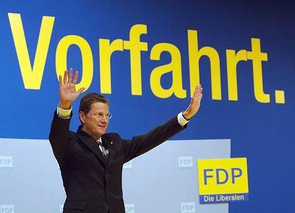 FDP-Chef Westerwelle: Im ersten Versuch von der rot-schwarz-grünen Konkurrenz überholt