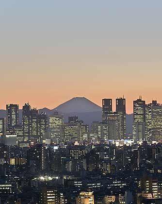 Blick auf Shinjuku, eines der quirligsten Subzentren von Tokio
