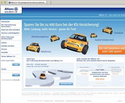 Verschwindet von der Bildfläche: Die Allianz nimmt ihre Onlinteochter Allianz 24 vom Netz