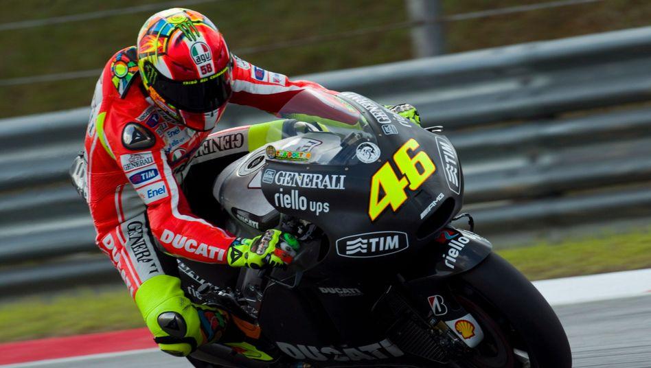 Neunfacher Weltmeister: Valentino Rossi gehört seit 2011 zum Ducati-Team