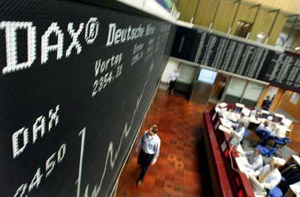 Die Börse im Blick: Anleger nehmen Gewinne mit