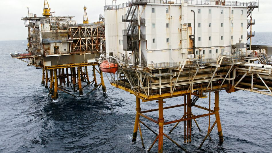 Blick auf eine Erdgas- und Erdölförderanlage in der Nordsee vor der norwegischen Küste: Riesenneubau vor Australien geplant