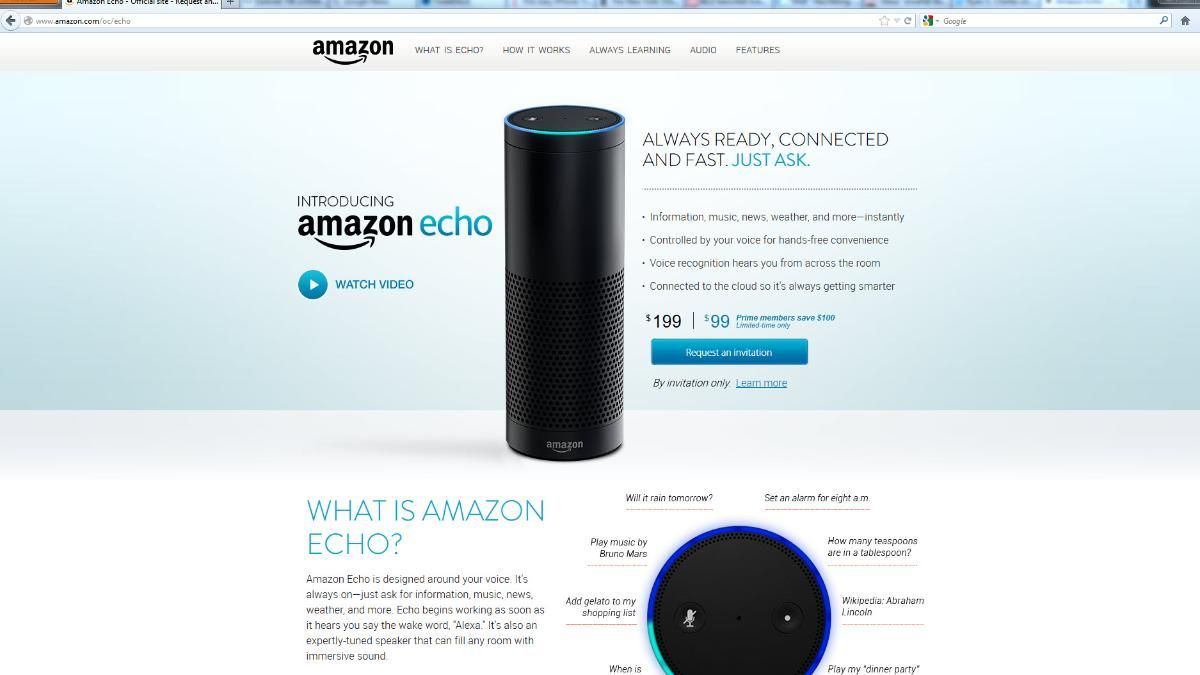 Amazon Screenshot Echo