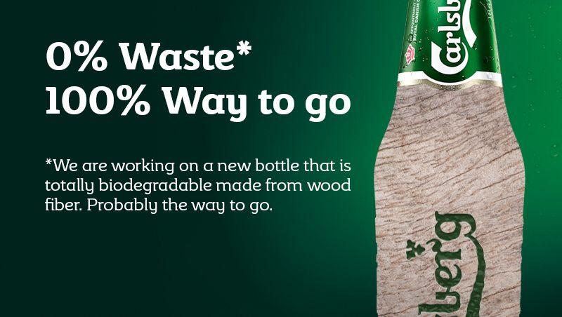 Zukunftsmusik: Jetzt kommt die Flasche aus Holz - bleibt abzuwarten, wie die Verbraucher darauf reagieren