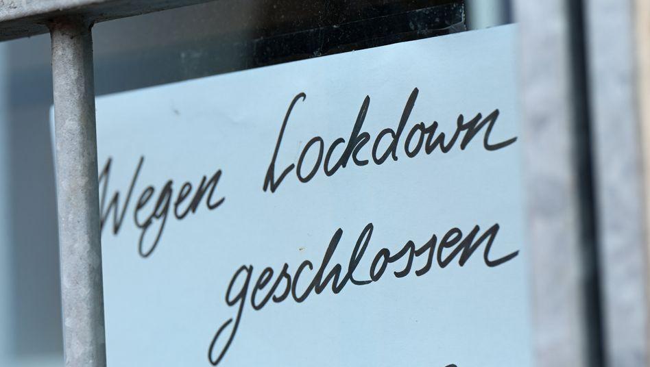 Lockdown wegen der Corona-Krise: Viele Geschäfte blieben während der Lockdowns geschlossen