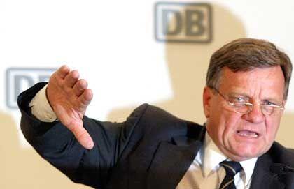 """""""Nicht rentabel"""": Bahnchef Hartmut Mehdorn ist skeptisch"""