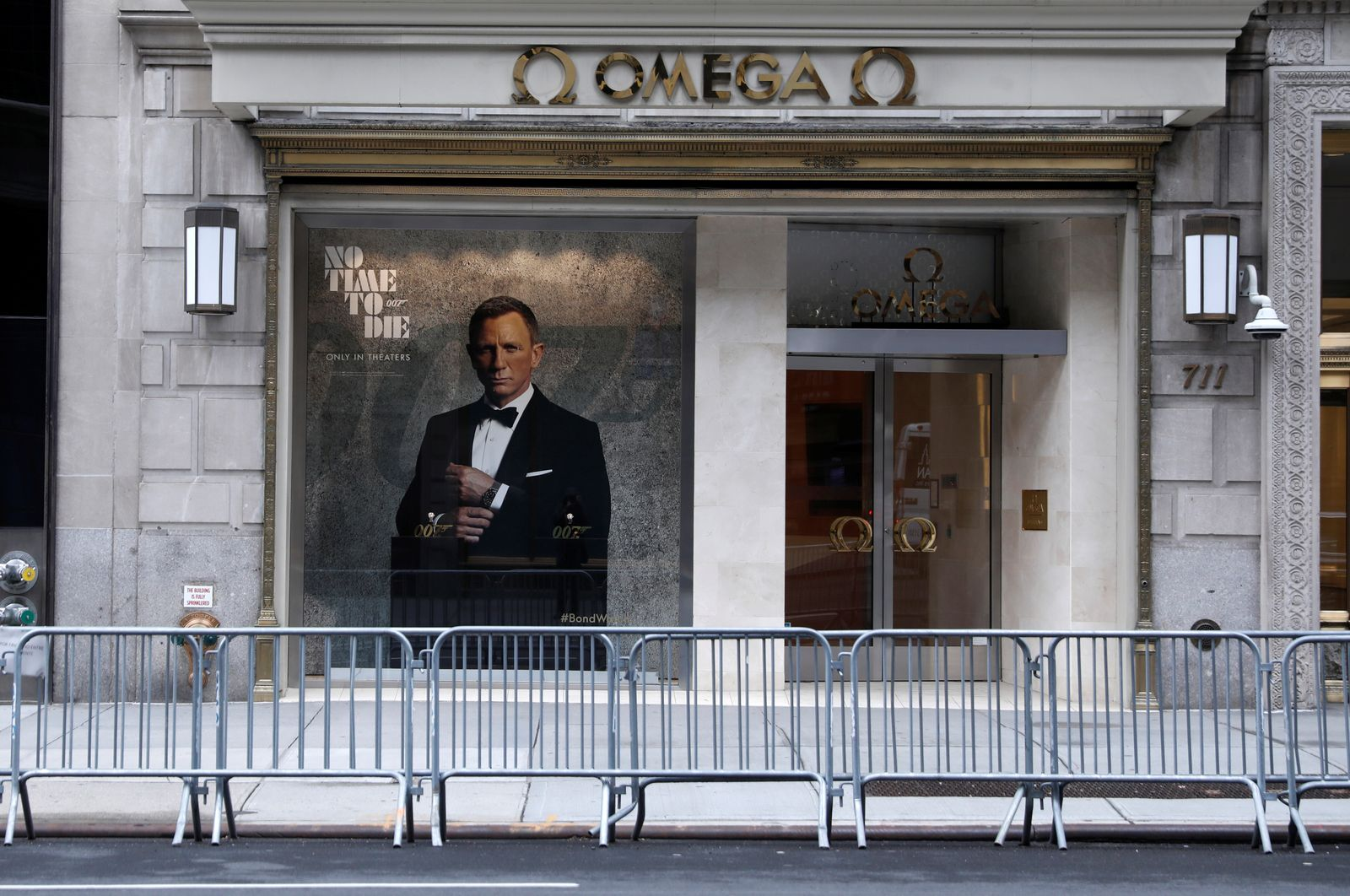 Closed luxury retail stores on 5th Avenue in Manhattan during the outbreak of the coronavirus disease (COVID-19) in New York