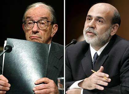 """Chefnotenbanker Greenspan, Nachfolger Bernanke: Nach 18 Jahren Amtszeit nimmt """"das Orakel"""" Abschied"""
