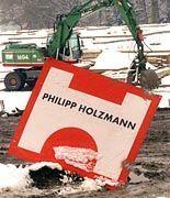 Folgen der Krise: Auf vielen Holzmann-Baustellen wurde im November 1999 die Arbeit eingestellt