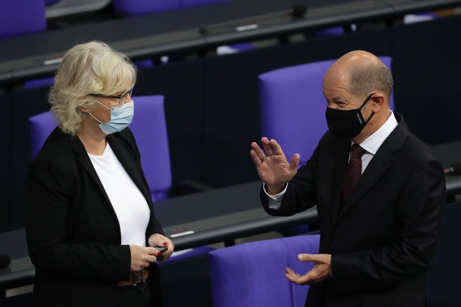 German Bundestag debates on 2021 government budget, Berlin, Germany - 29 Sep 2020