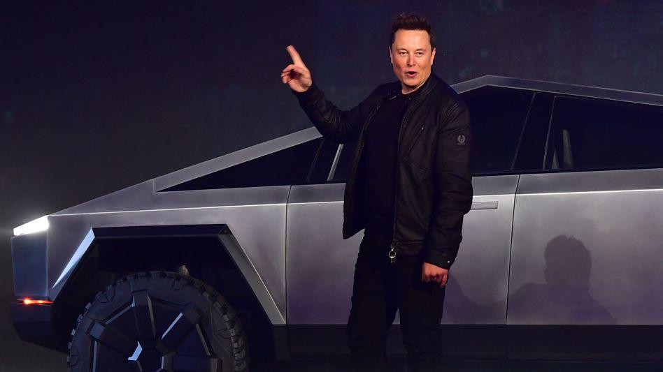 Tesla-Chef bei Pick-up-Präsentation: Elon Musk konnte Investoren zuletzt mit guten Nachrichten überzeugen.