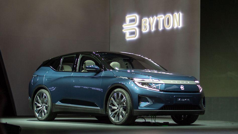 Soll nun ab dem ersten Quartal 2022 produziert werden: Elektro-SUV Modell M-Byte des chinesischen Start-ups Byton