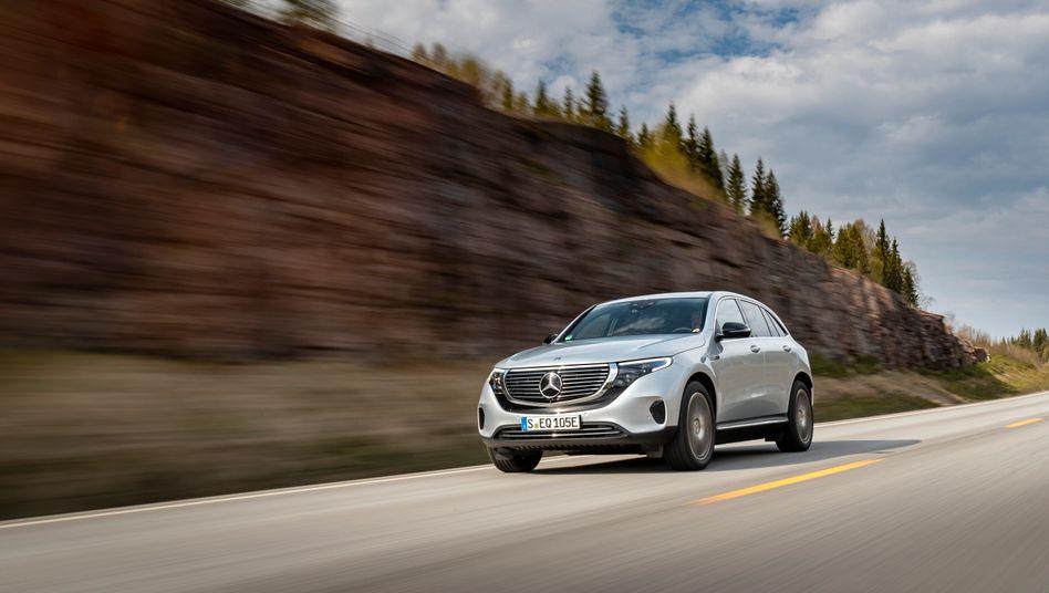 Mercedes EQC: Das Elektroauto wird erst seit Mai im Werk Bremen gebaut