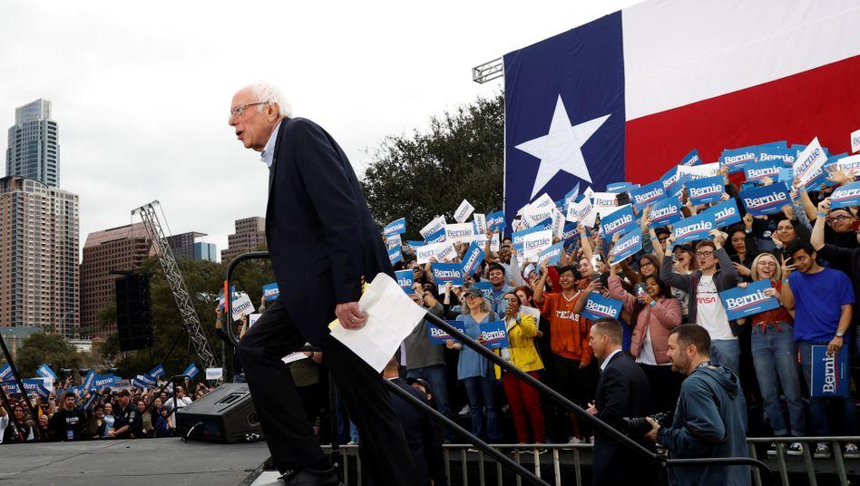Bernie Sanders in Austin, Texas, am Sonntag