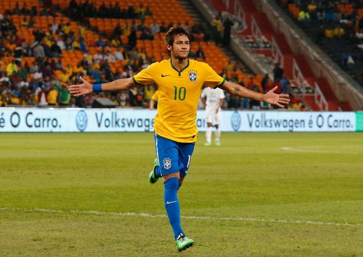 Hoffnungsträger: Weltstar Neymar im Nike-Trikot