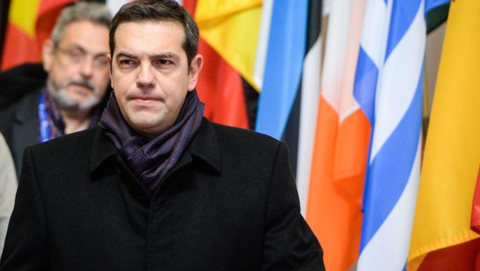 Athens Regierungschef Alexis Tsipras: Haushalt verabschiedet, beim Sparen aber weit hinter Zeitplan