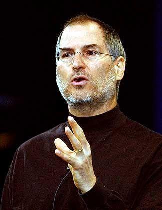 """Steve Jobs: Der Chef des Computerbauers Apple hatte zunächst für den demokratischen Bewerber Howard Dean gespendet. Als Dean aus dem Rennen war, rückte Jobs gemeinsam mit Warren Buffett in den Stab von John Kerrys """"Economic Advisors"""" auf."""