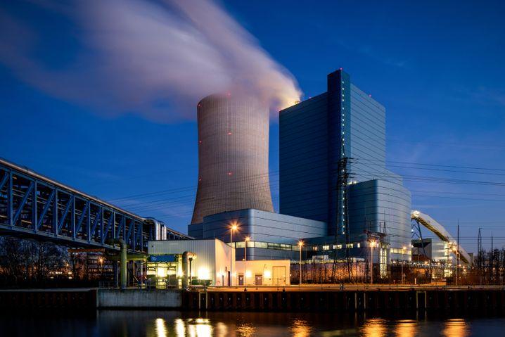 Uniper-Kraftwerk Datteln 4 (im Hochlaufbetrieb im Januar)