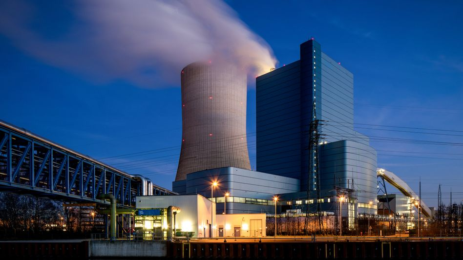 Uniper-Kraftwerk Datteln 4. am 6. Januar