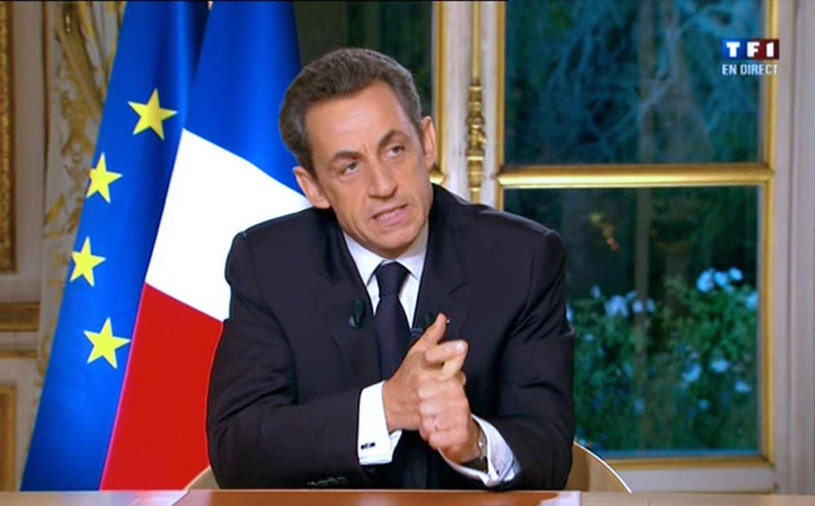Sarkozy Fernsehansprache