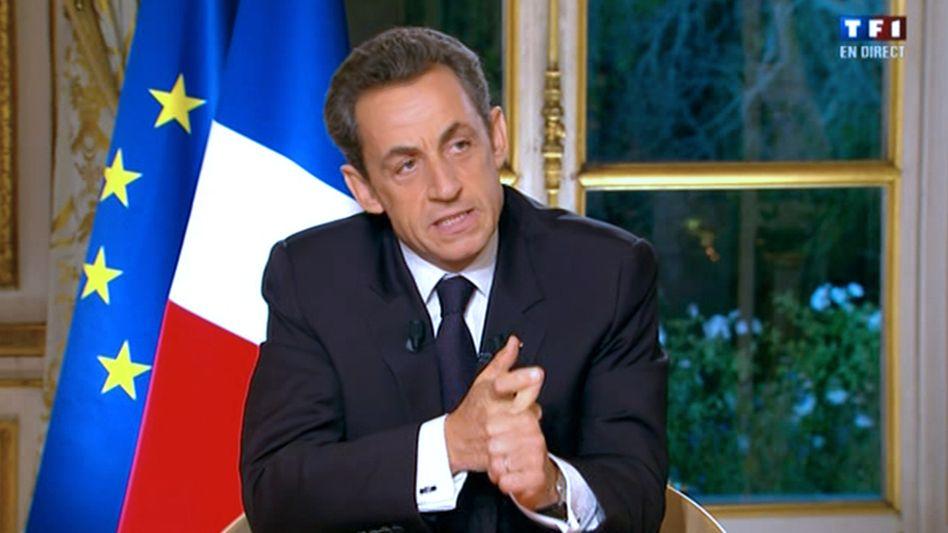 """TV-Ansprache von Frankreichs Präsident Sarkozy: """"Wir geben zuviel aus. Wir müssen mehr arbeiten"""""""