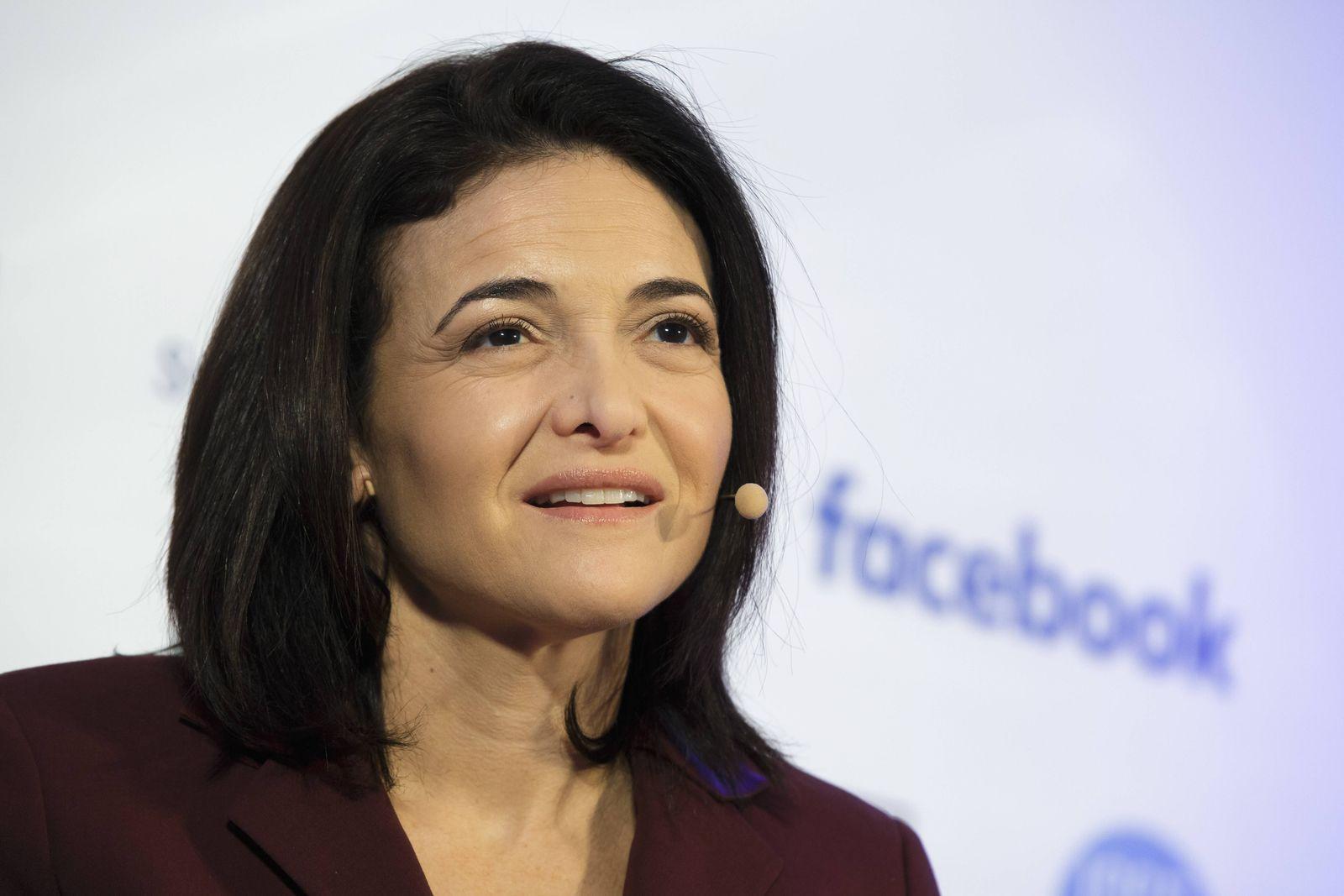 EINMALIGE VERWENDUNG Sheryl Sandberg