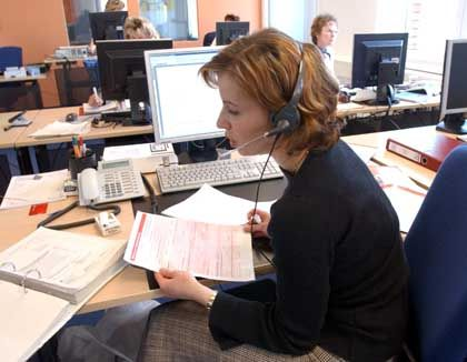 Neue Arbeitsplätze im Niedriglohnsektor: Callcenter-Mitarbeiter