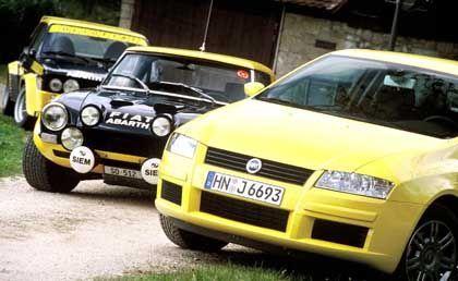 Der Fiat 124 Abarth Rallye, ein Vorzeigemodell aus dem Rennstall