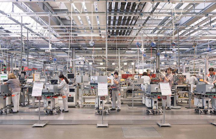 Viessmann-Fertigung am Stammsitz Allendorf: Hier könnten 600 Beatmungsgeräte pro Tag gefertigt werden