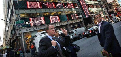 Turbulenzen: Der drohende Konkurs von Lehman Brothers wirkt sich auch auf die deutschen Töchter aus