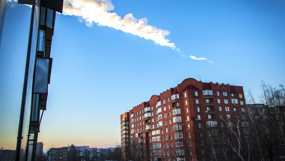 Meteorit im russischen Tscheljabinsk: Etwa 500 Menschen sollen verletzt sein