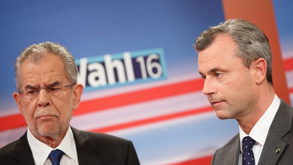 Hofer (rechts), van der Bellen: Auf ein Neues