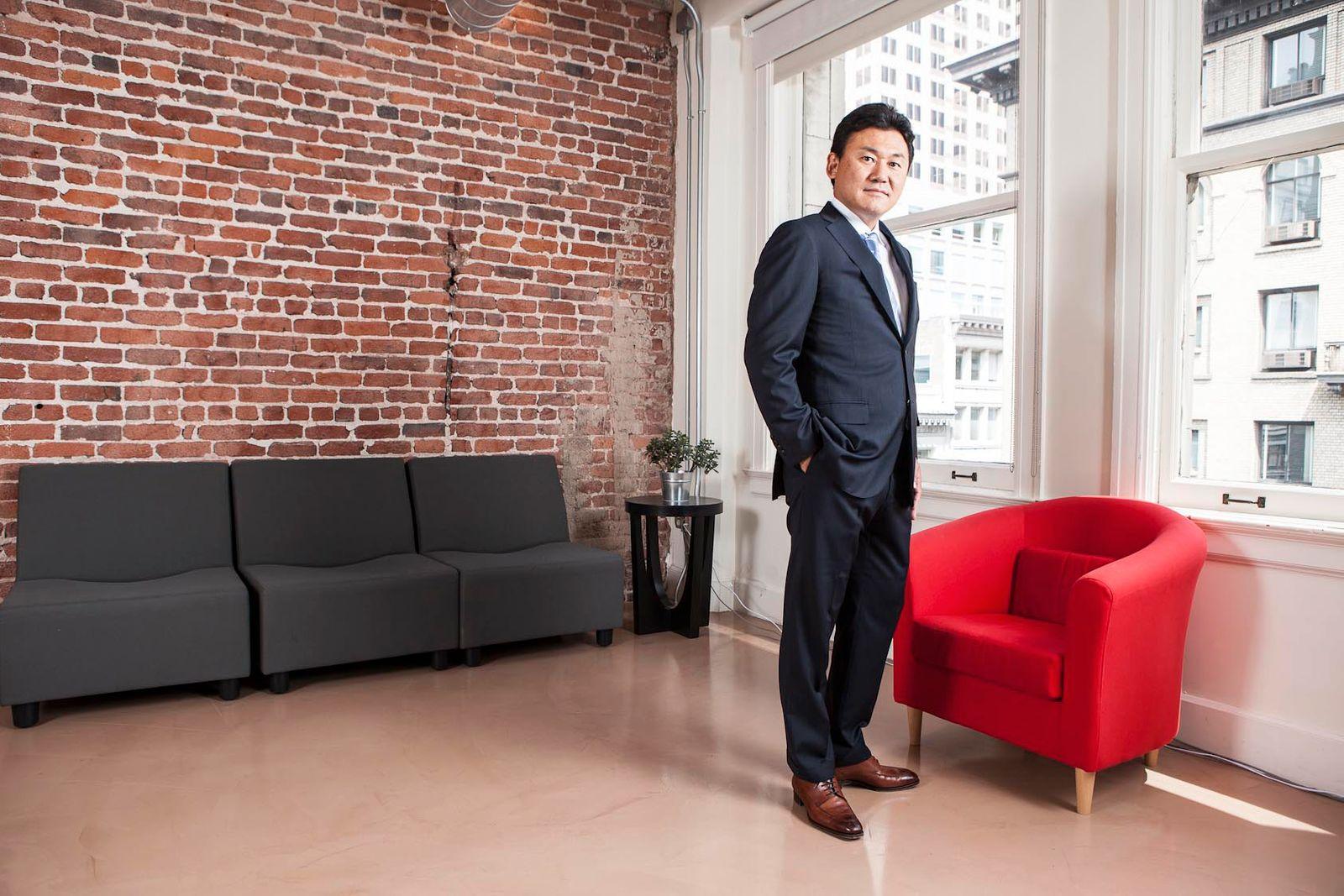 Japanese businessman, Hiroshi Mikitani, CEO and co-founder of Rakuten.