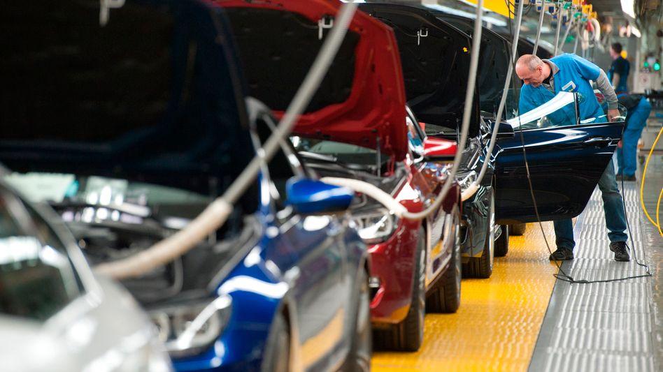 BMW-Werk in Bayern: Die Auslastung in deutschen Werken ist wegen der starken Nachfrage außerhalb Europas nach wie vor gut